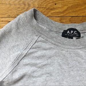 A.P.C. Heather grey sweatshirt